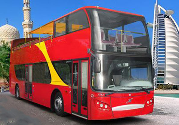 Dubai köper 20 Volvo/Unvi sightseeingbussar. Bild: Unvi.