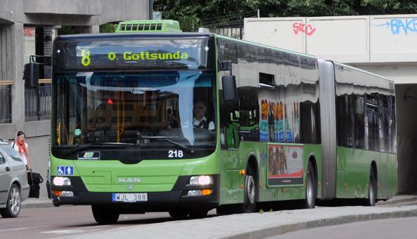 En spottloska mot en bussförare i Uppsala har nu blivit ett domstolsärende. Arkivbild: Ulo Maasing.