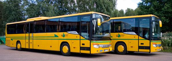 Förenade buss fick inte förvaltningsrätten med sig i striden om upphandlingen av busstrafiken i Värmland. Foto: Värmlandstrafik.