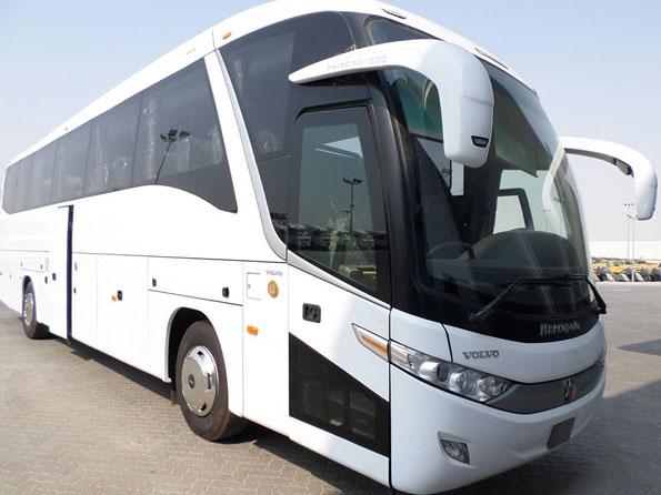 Volvo säljer 36 B9E turistbussar med Marcopolokaross till Abu Dhabi.
