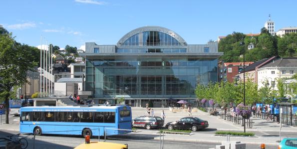 Den norska staden Arendal kan få elbussar i centrum nästa år. Foto: Karl Ragnar Gjertsen/Wikimedia Commons.