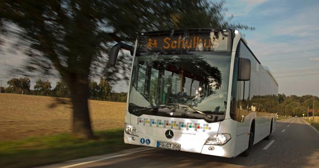 Försäljningen av kompletta bussar i Europa lyfte Daimler Buses under första kvartalet. Foto: Daimler Buses.