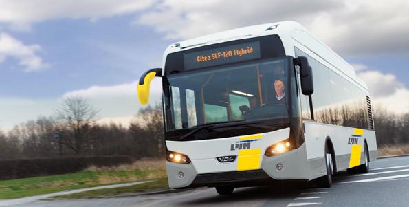 VDL har fått en stororder på 105 hybridbussar till Belgien. Foto: VDL.
