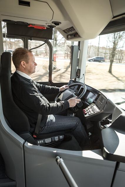 Bussförare – behövs de i framtiden? Foto: Volvo Bussar.