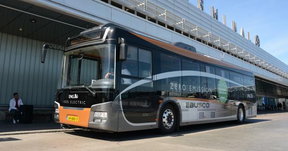 Holländska Ebusco levererr batteribussar till Stavanger. I fjol testades bussen av bland andra Flygbussarna i Stockholm. Foto: Ulo Maasing.
