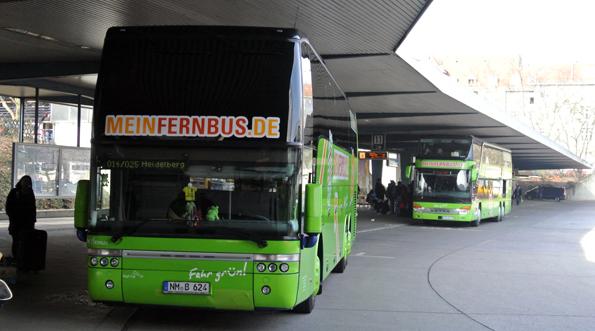 Sedan den långväga busstrafiken i Tyskland avreglerades förra årsskiftet har trafiken formligen exploderat. Mein Fernbus är en av de nya, stora aktörerna på marknaden. Foto: Ulo Maasing.
