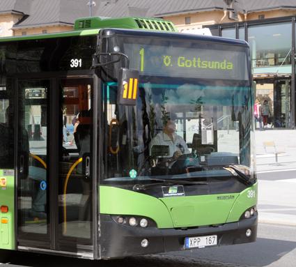 Busstrafiken till Uppsalastadsdelen Gottsunda är igång igen. Foto: Ulo Maasing.