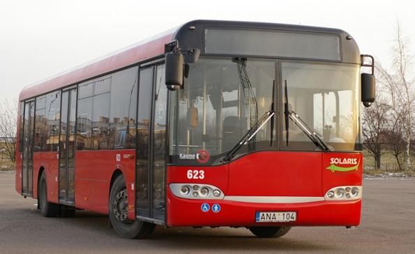 Sgtadsbussföretaget i Kaunas, Litauen, stsar på svensk teknik för att minska miljöpåverkan från busstrafiken. Foto: Kauno Autobusai.
