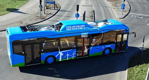 Volvos laddhybridbussar har blivit uppskattade i Göteborg. Alla gillar dem. Foto: Volvo Bussar.