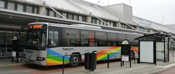 Flygbussarnas vd John Strand berömmer Västtrafik för det nya samarbetet med Flygbussarna. Foto: Ulo Maasing.
