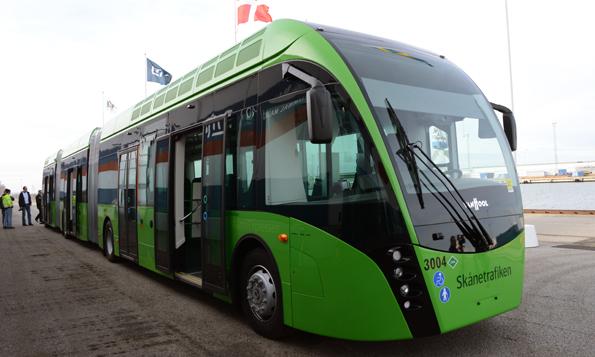 """Monsterbuss"" som inte passar i Lund? Foto: Ulo Maasing."