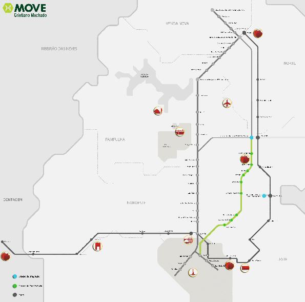 Som en tunnelbana med kapacitet som en sådan. I maj är samtliga tre korridorer i trafik.