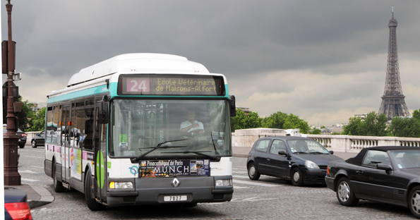 Lokaltrafiken i Paris, RATP, vill att alla bussar i Paris och övriga Ile-de-France ska vara elektriska år 2025. Foto: Ulo Maasing.