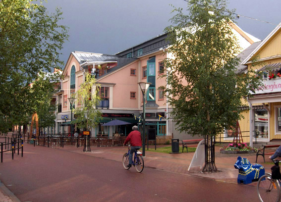 Rättviks centrum. Foto: MIkael Parkvall/Wikimedia Commons.