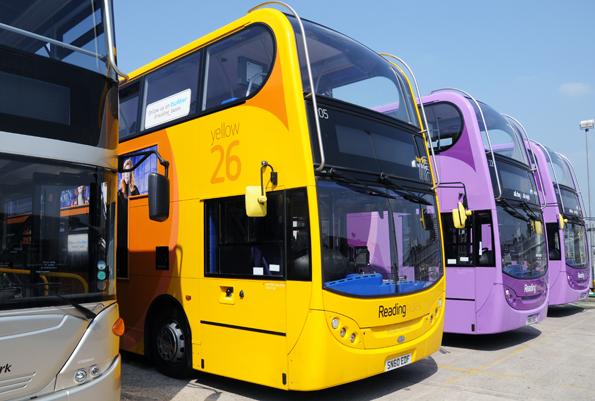 Reading Buses har 94 procent nöjda resenärer. Foto: Ulo Maasing.