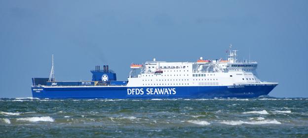 Sirena Seaways har trafikerat rutten Esbjerg – Harwich sedan 2003. I höst läggs linjen ner. Foto: DFDS Seaways.