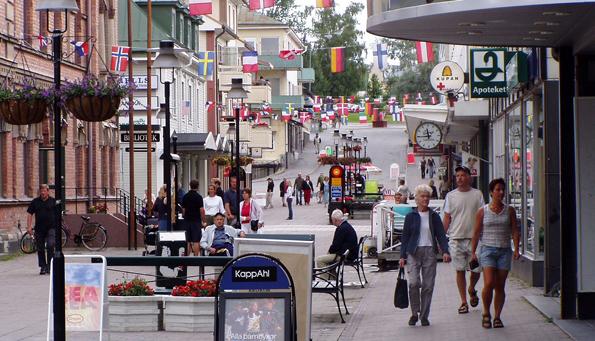 Sollefteå centrum – nu utan livsmedel. Foto: Fredrik Malmqvist/Wikimedia Commons.