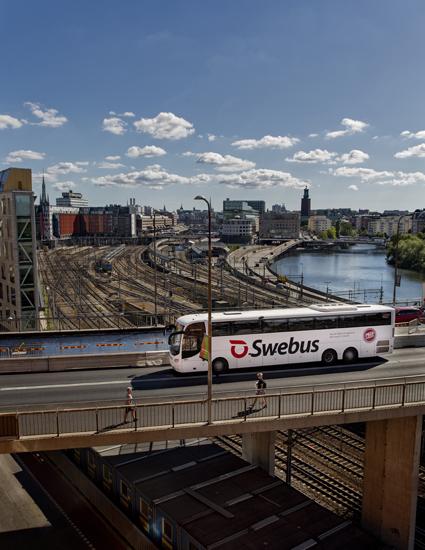 Swebus kör ca 7000 turer under två sommarmånader. Foto: Swebus.