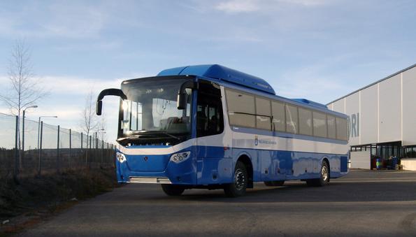 De första Scania OmniExpress med gasdrift levereras till Trelleborgs kommun.