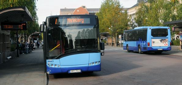 Resandet med stadsbussarna i Umeå, Ultra-trafiken, nådde ett all time high första kvartalet i år. Foto:Ulo Maasing.