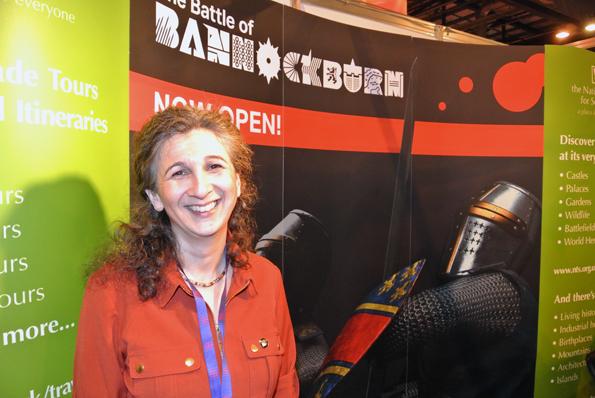 Liz Young från National Trust for Scotland presenterade en ny, spännande attraktion: Bannockburn Centre – Prepare for Battle. Där kan besökare själv påverka det gamla slaget. Centret ligger mellan Glasgow och Edinburgh.