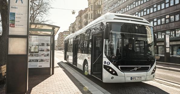 Bergkvarabuss har beställt tolv Volvo 7900 Hybrid för tätortstrafik i Karlskrona. Foto: Volvo.