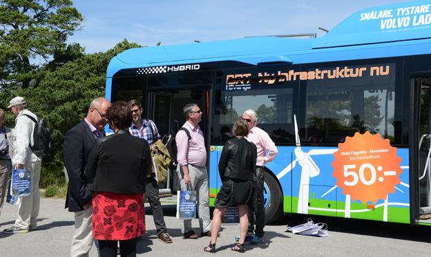 Liksom i fjol kommer politiker och andra att bjudas på bussturer i samband med Almedalsveckan. Foto: Ulo Maasing.