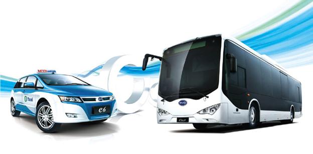 BYD har fått en beställning på 2000 elbussar och 1000 eldrivna taxibilar från en enda stad. Bild: BYD.