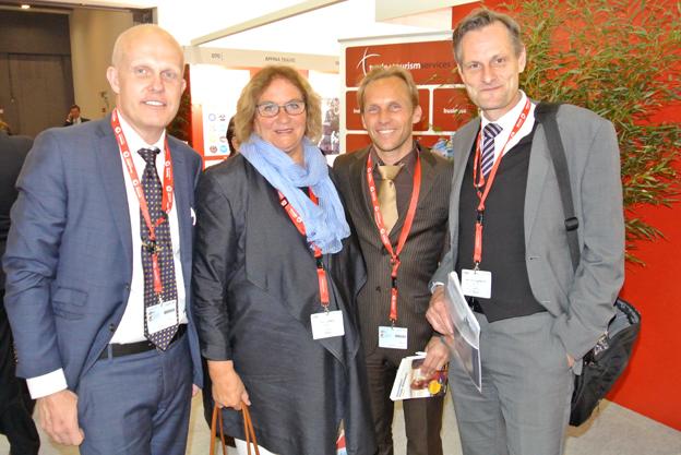 Svensk Kvartett på GTM: Anders Olsson, Scandorama, Ulla Lundwall, Ulla Lundwall AB, Peter Olseni, Jörns Resor och Michael Fogelström, JT Travel. Foto: Ulo Maasing.