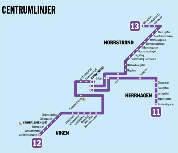 De tre centrumlinjerna i Karlstad ska från i höst köras med helt nya eldrivna bussar.