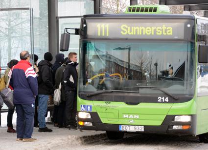 Gamla Uppsala Buss får böta 100 000 kronor för ett glykolutsläpp för några vintrar sedan. Arkivbild: Ulo Maasing.