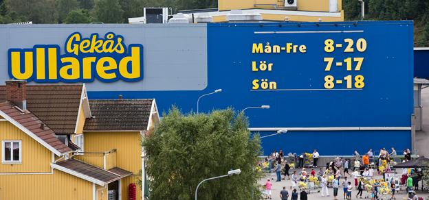 Gekås i Ullared satsar nu på flygresor för norrlänningar som tycker bussresan känns för lång. Foto: Jesper Petterson/Gekås.