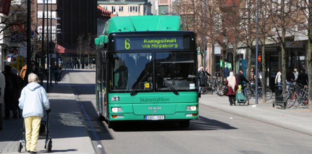 Stadsbussarna i Helsingborg står inför stora förändringar. Foto: Ulo Maasing.