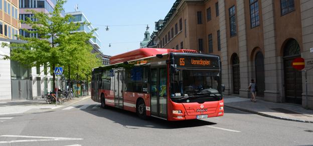 Storstockholms Lokaltrafik, SL, tillhör dem som endast har internet ombord på ett fåtal bussar. Foto: Ulo Maasing.