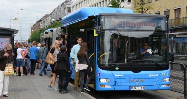 En av Keolis bussar i Göteborg. Företaget satsar nu på ett socialt intranät för sina medarbetare. Foto: Ulo Maasing.