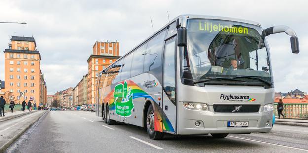 Två månader efter starten på den nya flygbusslinjen mellan Arlanda och Liljeholmen i sydvästra Stockholm talar Flygbussarna om en succé. Foto: Gustaf Brundin.