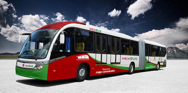 Scania gör en inbrytning på den mexikanska stadsbussmarknaden genom en stororder från Mexico Citys nya BRT-system. Bild: Scania.