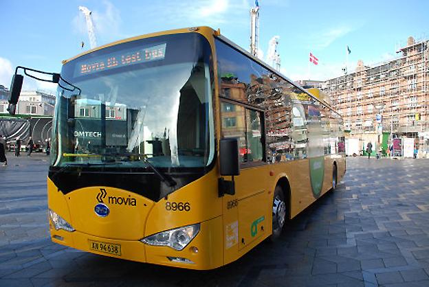 De två elbussar från BYD som nu rullar på prov i Köpenhamn har blivit en positiv överrskning anser man på Movia, trafikhuvudman i den danska huvudstaden. Foto: Movia.
