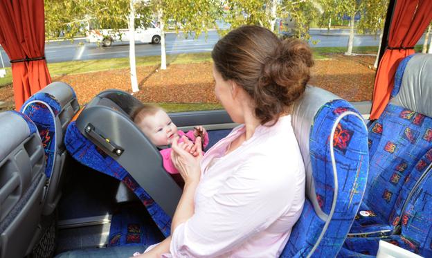 Sit Safe är en barnstol som har utvecklats speciellt för bussar, taxi och tåg. Foto: Ulo Maasing.