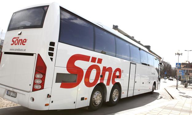 Söne Buss startar en ny busslinje mellan Stockholm och Västervik med direkt anslutning till Gotlandsbåten. Foto: Söne Buss.