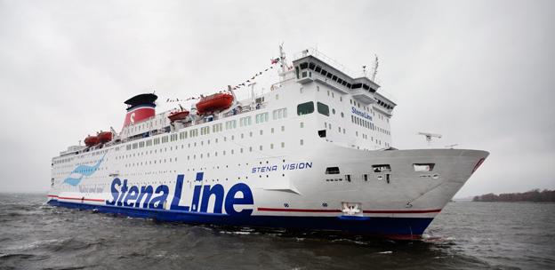 Stena Vision tillhör de fartyg som har fått många fler resenärer tack vare extra låga spritpriser ombord. Foto: Stena Line.
