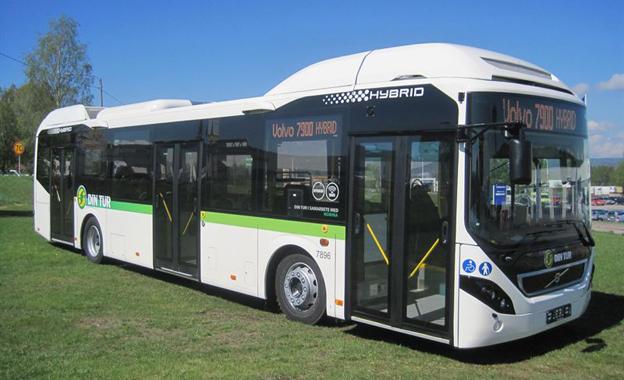 Nobina sätter i år in 47 nya hybridbussar från Volvo i trafik i Västrnorrland. Foto: Volvo Bussar.