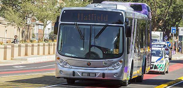 Volvo Bussar har levererat de första av 131 bussar till BRT-systemet i den sydafrikanska staden Tshwane. Foto: Volvo Bussar.