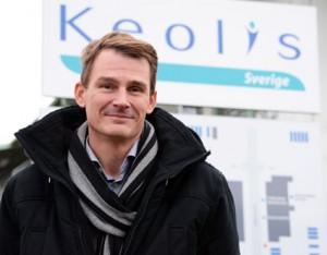 Magnus Åkerhielm, vd för Keolis Sverige, deltar i seminariet Utan invandrare stannar bussen och taxin. Seminariet hålls bara någon timme innan Sverigedemokraterna äntrar scenen i Almedalen. Foto: Ulo Maasing.