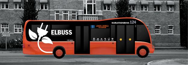 Så här ska Karlstads nya elbussar från Optare se ut. Bild: Karlstadsbuss.