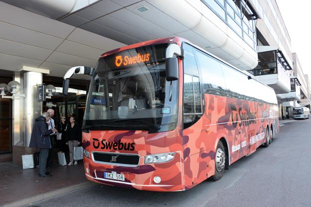 Den specialdesignade bussen ska köra till flera festivaler, men också rulla på Swebus´vanliga linjenät. Foto: Ulo Maasing.