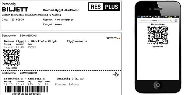 En ny teknisk lösning gör det smidigare att kontrollera Resplusbiljetter. Bild: Samtrafiken.
