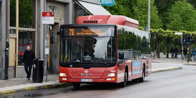 Slutgasat i september. Då ersätts biogasbussarna på linje 73 i Stockholm med laddhybridbussar. Foto: Ulo Maasing.