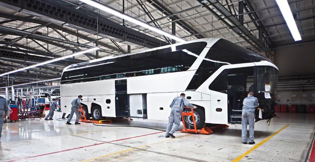 När produktionen av Neoplanbussar flyttar till Turkeit blir den nuvarande Neoplanfabriken en anläggning för specialanpassning av MAN och Neoplan bussar. Foto: MAN.