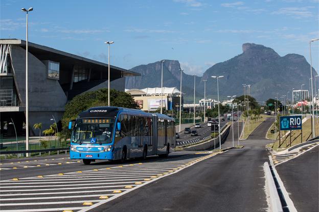 Volvo har levererat 124 BRT-bussar till Rio de Janeiro. Foto: Volvo Bussar.
